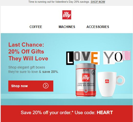 Check out this email from an Italian coffee brand Illy