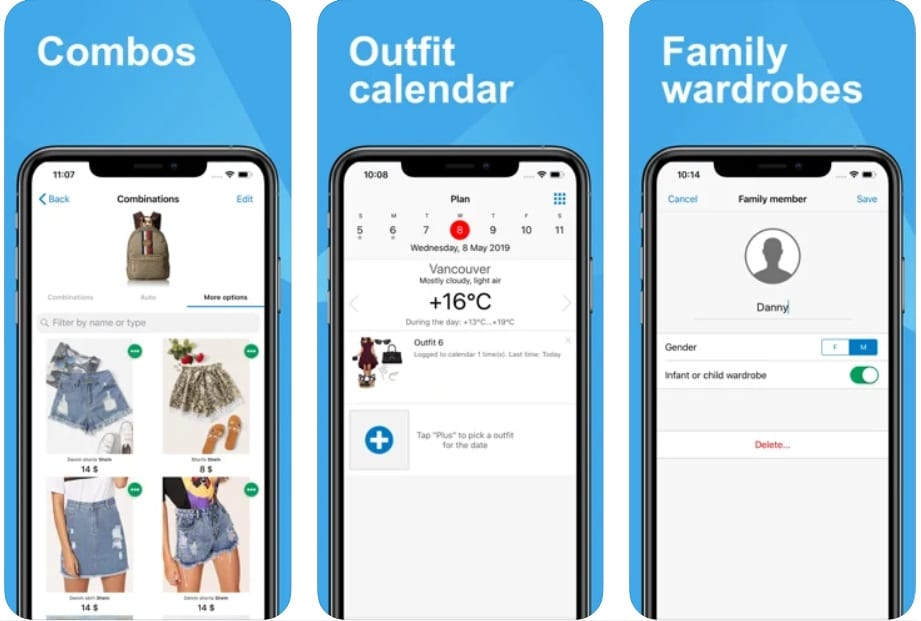 Getwardrobe, outfit planning and smart closet organizing app for iOS