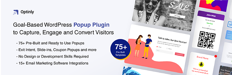 Optinly is the best objective-based WordPress popup plugin