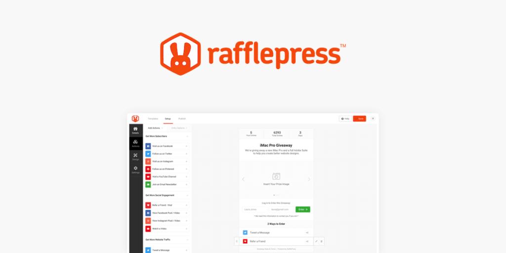 RafflePress is the best WordPress giveaway plugin