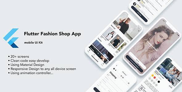 Flutter Fashion Shop UI Kit