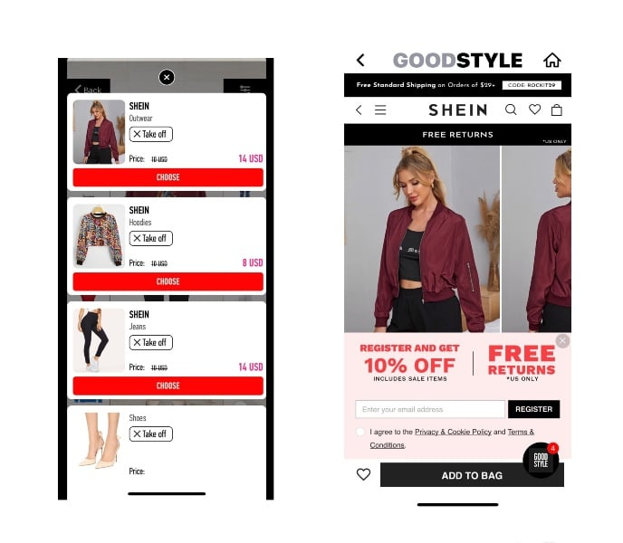 Goodstyle virtual fitting room.